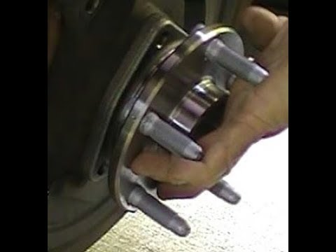 How to Replace a Front Whheel Bearing Assembly on a Pontiac G8