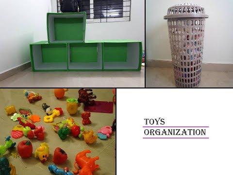 Toys Organization Ideas| How To Organize Toys| In Telugu| Low Budget Toys Storage Ideas