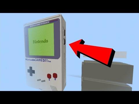 Working Nintendo Game Boy in Minecraft Trailer
