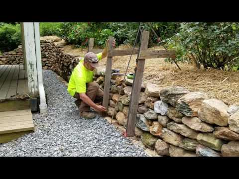 DIY How To Build & Install Single Sided Wall Frame - Dry Stone Retaining Walls
