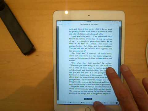 Google Books PDF Test iPad Mini 3 People of the Abyss