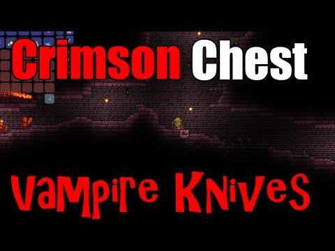 The Vampire Knives | Crimson Key & Crimson Chest | Terraria 1.2 Gameplay