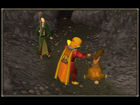How to do Firemaking - Get Tinderbox, Make Fire with Logs (Oldschool Runescape)