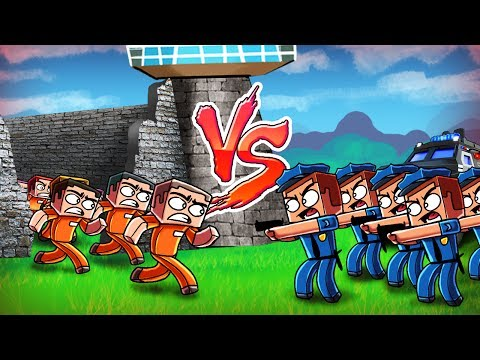 Minecraft | Good vs Evil - ESCAPED PRISONER CITY TAKE OVER! (Police vs Prisoners)