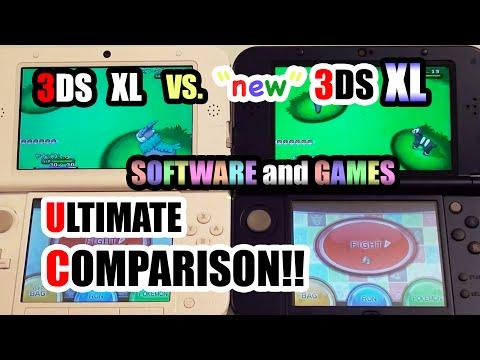 3DS XL vs. NEW 3DS XL - Comparison! [Software/Games] + SPEED TEST!