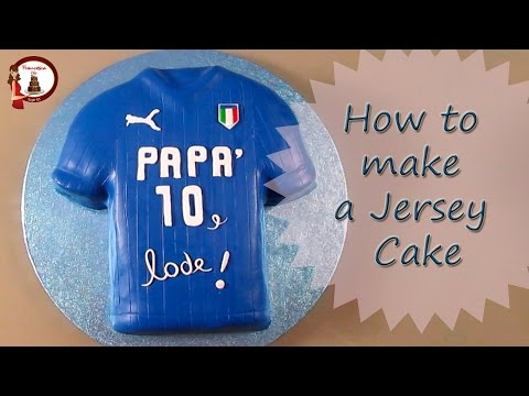 How to make a Football Jersey Cake for father day