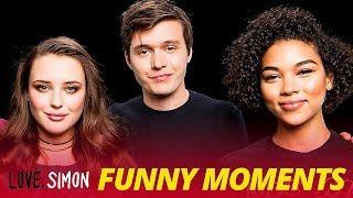 'Love, Simon' Bloopers Funny Moments - Nick Robinson \u0026 Katherine Langford