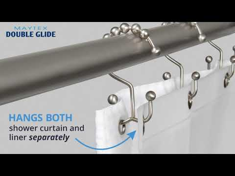 Double Roller Glide Shower Curtain Hook / Ring