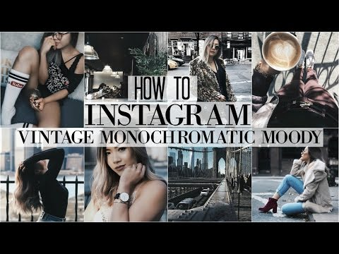 HOW I EDIT INSTAGRAM PHOTOS + HACKS | Vintage • Dark Monochromatic • Moody Theme