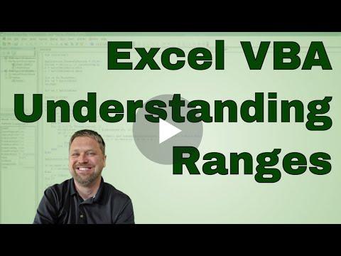 Excel VBA Understanding Ranges