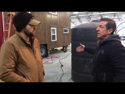 16 ft. Off grid tiny house tour water/solar/rain catchment and recirculating system