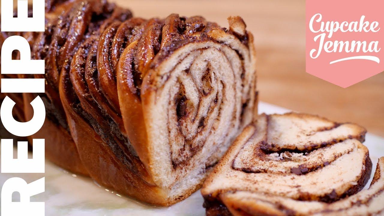 Amazing Twisted CHOCOLATE & NUTELLA BABKA Bread Recipe | Cupcake Jemma