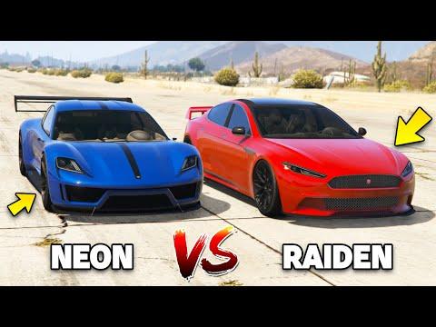 PFISTER NEON vs COIL RAIDEN - GTA 5 ONLINE THE DOOMSDAY HEIST DLC
