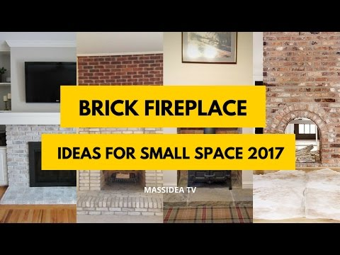 50+ Awesome Brick Fireplace Ideas for Small Space 2017