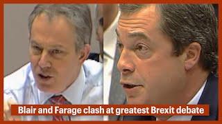 BREXIT - Relive Nigel Farage vs Tony Blair EU clash at European Parliament