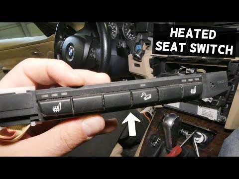 HOW TO REMOVE AND REPLACE HEATED SEAT SWITCH ON BMW E90 E92 E91 E93