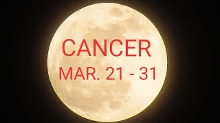 CANCER~2nd half of March~Someone is scared of you rejecting them if