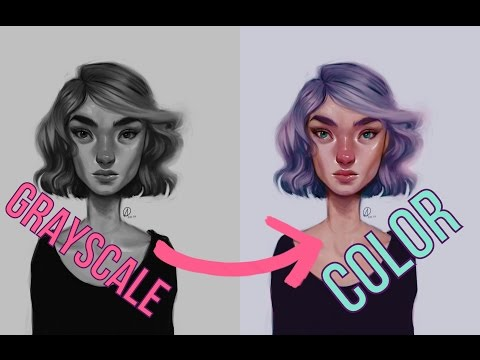 DIGITAL ART| Grayscale to Color Tutorial