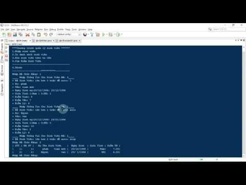 Code quản lý sinh viên java cơ bản by Tuan Ticker