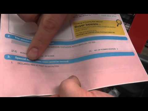 What to Check for in a Used Car Part 6 - Paperwork