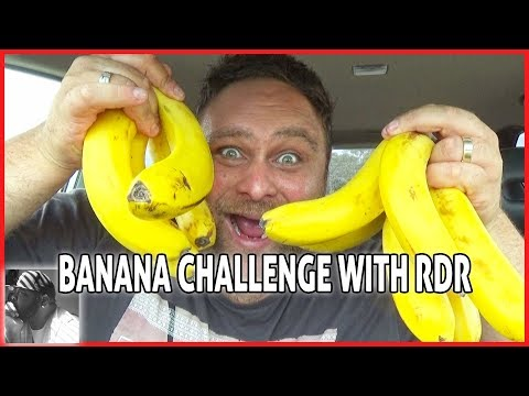THE BANANA CHALLENGE WITH RDR Food Reviews - Who can eat 10 the fastest