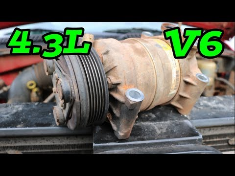 DIY How to Remove Replace AC Compressor 4.3L (1997-2006 Chevy Truck)