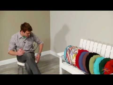 Coral Coast Classic 16 in. Round Bistro Outdoor Seat Cushion - Set of 2 - Product Review Video