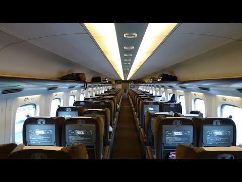 Shinkansen Nozomi N700 inside:  Tokyo ~ Nagoya ~ Kyoto ~ Osaka