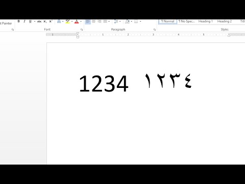 How to change numeric in MS Word 2013 (MS OFFICE)