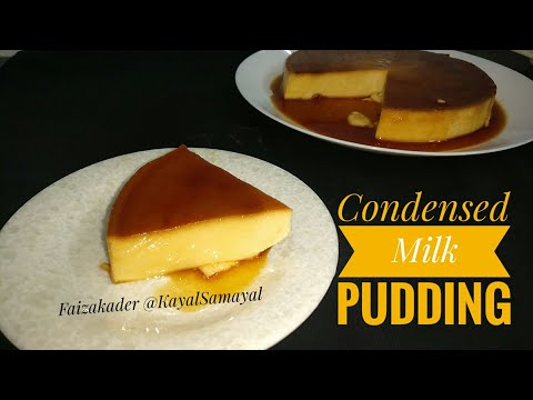 Condensed Milk Caramel Pudding without oven