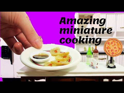 Miniature Cooking - Baked potato with cream and cheese recipe - Mini food cooking channel