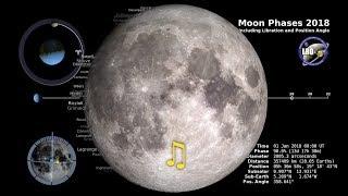 Moon Phases 2018 - Southern Hemisphere - 4K