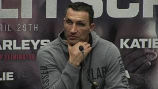 WLADIMIR KLITSCHKO REACTS TO ANTHONY JOSHUA ROUND 11 TKO DEFEAT - {POST FIGHT PRESS CONFERENCE}