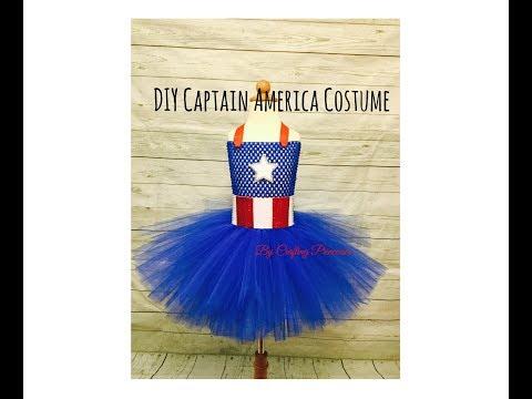 DIY Captain America Tutu Dress | Super Hero Series