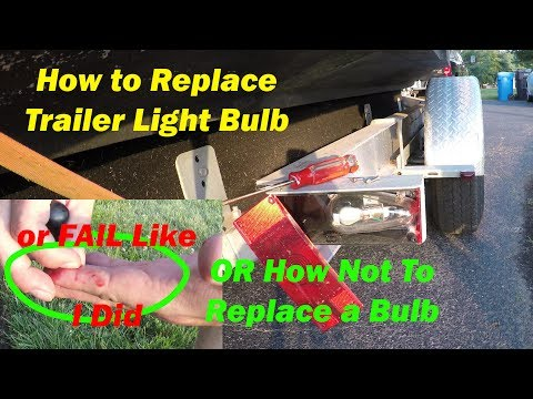 How To Replace Brake Light on a Boat Trailer / How to Install Trailer Bulb