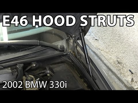 BMW E46 Hood Strut Replacement