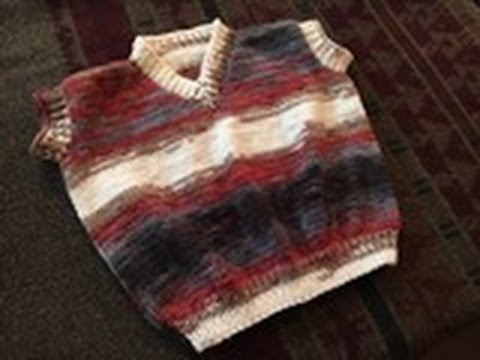V-Neck Baby Half Sweater (1 Year Baby) in Urdu/Hindi by Azra Salim