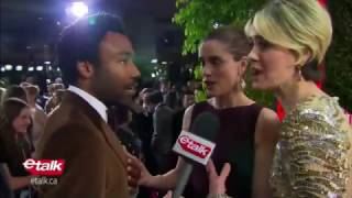Donald Glover Encounters His biggest Fan On The Golden Globes Red Carpet 2017