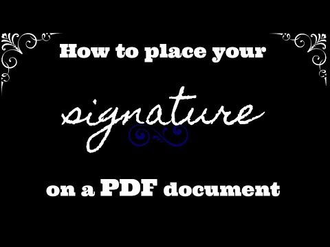 How to place your signature on a PDF