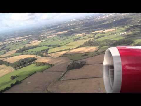 Virgin Atlantic Flight VS85 to Las Vegas (LAS) taking off from Manchester Airport (MAN)