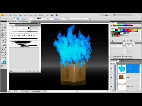 [HD] Vector Fire and Flames: Illustrator CS4 Tutorial