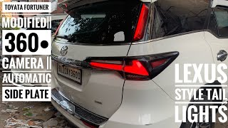latest Fortuner modified | Automatic side stepping | Tesla style stereo | latest grills