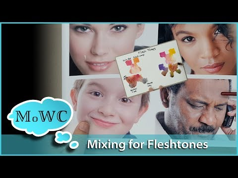 How I Mix Flesh Tones in Watercolor