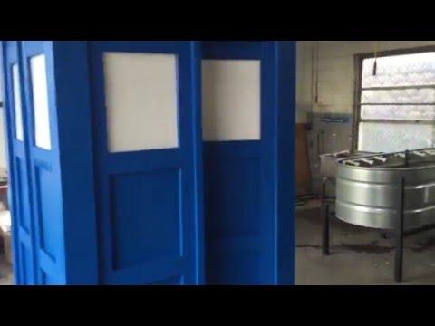 Tardis Build and Paint DIY short video
