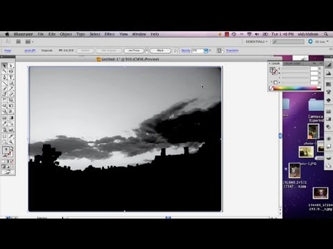 How to Make a Monochromatic Painting From a Photo in Illustrator CS5 : Advanced Photoshop CS5
