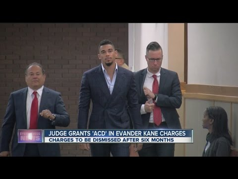 Charges against Evander Kane could be dropped in six months