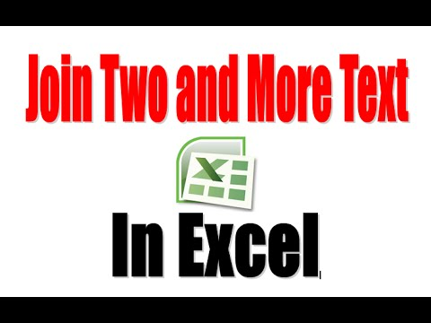 How to Join two Text in Excel