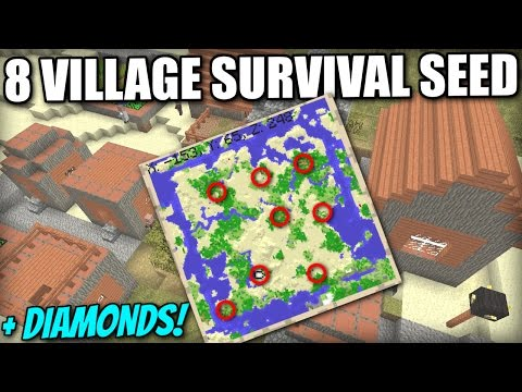 8 VILLAGE CLASSIC SURVIVAL SEED [ Showcase ] Minecraft Xbox / PS4 / PS3 / Wii U / Switch