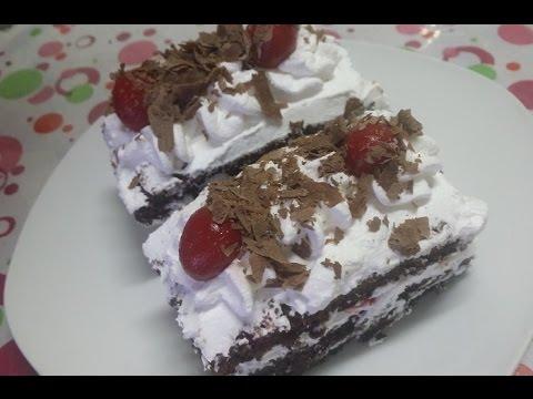 تزيين جاتوه شوكولاتة - البلاك فورست Black Forest Mini Cakes