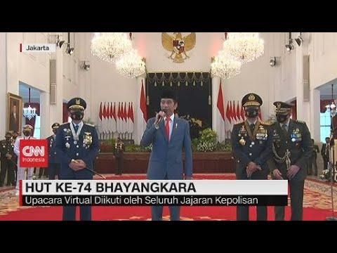 Presiden Jokowi Pimpin Upacara HUT Ke-74 Bhayangkara